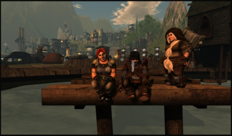 The Dwarfin Creators: Judy Chestnut, Dante Spectre and Jaimy Hancroft.