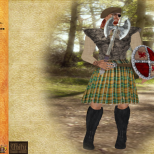 MacMoragh and Muse - Ragged Warrior for Auction